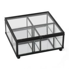 Imagem de Caixa Decor Porta Joias Em Vidro E Metal