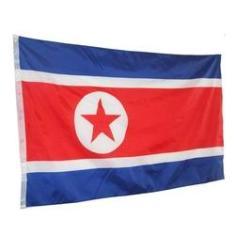 Bandeira da Coreia do Norte 150x90cm
