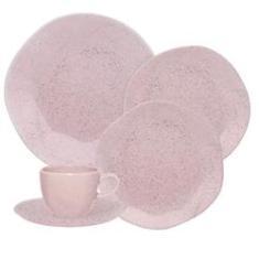Imagem de Jogo Jantar Chá Café 42 Peças Ryo Pink Sand Oxford Porcelana