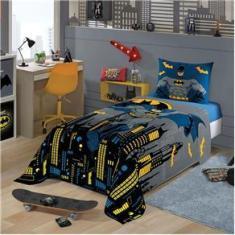 Imagem de Jogo De Cama Solteiro Infantil Batman Facil Lavar Lepper