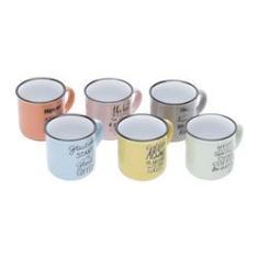 Imagem de Conjunto 6 Canecas De Porcelana Colorida Motive 130ml - Rojemac 26096