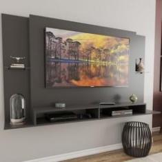 Imagem de Painel para TV Até 60 Polegadas Londres 2 Nichos Grafite - Panorama Móveis