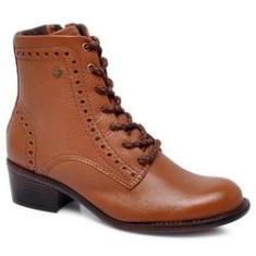 Imagem de Bota Ankle Boot Cravo E Canela 164708-3 Couro Whisky
