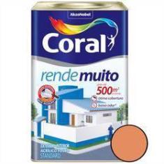 Imagem de Tinta Acrílica Rende Muito Fosco Laranja Imperial 18 Litros - Coral