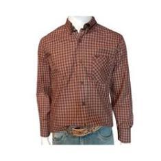 Imagem de Camisa Masculina Vinho/Bege ML