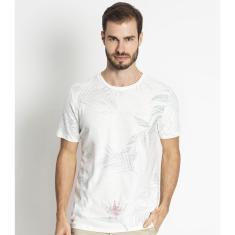 Imagem de Camiseta Masculina Meia Malha Estampada Rovitex Bege