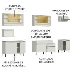 Imagem de Cozinha Completa 2 Gavetas 9 Portas para Cooktop sem Tampo Verona Madesa