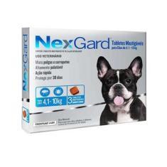 Antipulgas e Carrapatos Merial NexGard 28,3 mg para Cães de 4,1 a 10 Kg