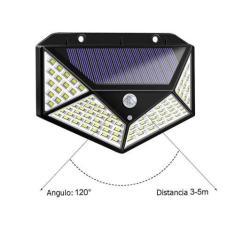 Imagem de Kit 5 Refletor Luminária Externa Solar Holofote 100 leds Resistente So