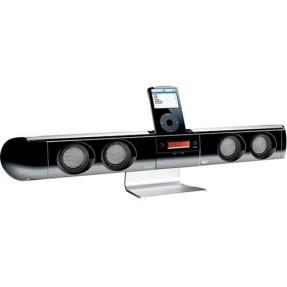 Dock Station com Caixa de Som Integrada The Sharper Image Rádio FM Controle Remoto SI343
