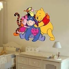 Imagem de Adesivo De Parede Infantil Ursinho Pooh E Sua Turma