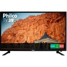 "TV LED 39"" Philco PTV39N87D 3 HDMI USB Frequência 60 Hz"