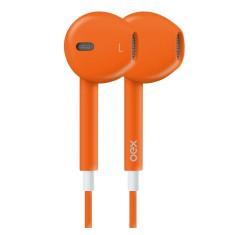 Fone de Ouvido com Microfone OEX FN204 Gerenciamento chamadas