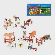 Imagem de Kit Brinquedos 8 Animais Da Fazenda Miniatura Médio Borracha