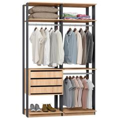 Imagem de Guarda-Roupa Closet 3 Gavetas 9013 Clothes Be Mobiliário