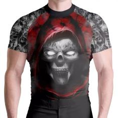 Imagem de Rash Guard Skull Red Térmica Proteção Solar ATL