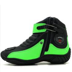 Imagem de Bota Motociclista  E Verde Em Couro Atron Shoes