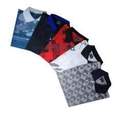 Imagem de Kit 4 Camisa Masculina Gola Polo Piquet Revenda Menor Preço