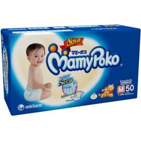 2da051d01 Fralda MamyPoko Super Seca Tamanho M Mega 50 Unidades Peso Indicado 7 - 10kg