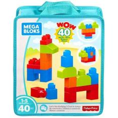 Imagem de Sacola Com 40 Blocos De Montar - Mega Bloks - Fisher Price