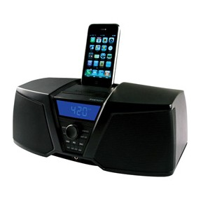 Dock Station com Caixa de Som Integrada Kicker Despertador Rádio FM iK150