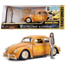 Imagem de Volkswagen Beetle (Fusca) Bumblebee e Charlie - Transformers - Hollywood Rides - 1/24 - Jada