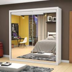 Guarda-Roupa Casal 2 Portas 4 Gavetas com Espelho Salvador Premium Mezzanine Móveis