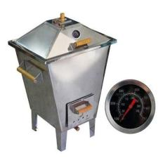 Imagem de Churrasqueira Bafo Forno Defumador Inox 8kg Carne Carvão