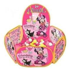 Imagem de Piscina de Bolinha Minnie com Cesta de Basquete 100 Bolinhas - Zippy Toys
