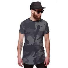 Imagem de Camiseta Longline Camuflada Grafite Exército