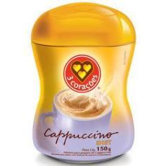 Imagem de Cappuccino 3 Corações Solúvel Diet Pote 150 g