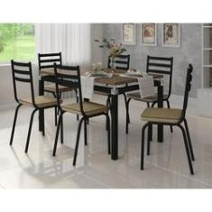 Imagem de Mesa Com Cadeiras 6 Lugares Para Cozinha De Ferro M118 P Rat