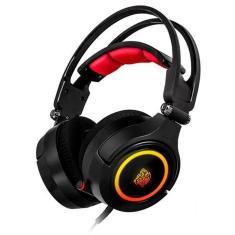 Headset Gamer com Microfone Thermaltake Cronos Riing RGB 7.1 HT-CRA-DIECBK-20 Dobrável