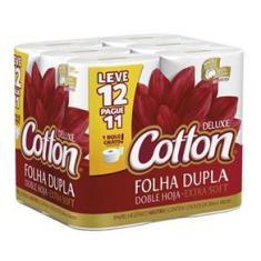 Imagem de Papel Higiênico Cotton Folha Dupla Leve 12 Pague 11