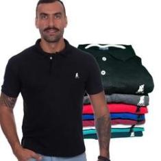 Imagem de Kit com 6 Camisas Gola Polo Masculina Original Polo CLUB BR