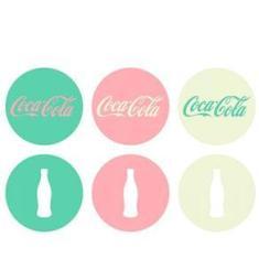 Imagem de Porta Copos Coca Cola Moderno Cores - 6 peças