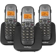 Telefone sem Fio Intelbras com 2 Ramais TS5123