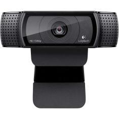 WebCam Logitech HD Pro 15 MP Filma em Full HD C920