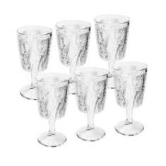 Imagem de Conjunto De 6 Taças De Vidro Para Água Leaves 320ml Bon Gourmet