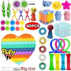 Imagem de 1/4/40pcs Pop It Fidget Toy Toy Pop Bubble Fidget Sensorial Toy