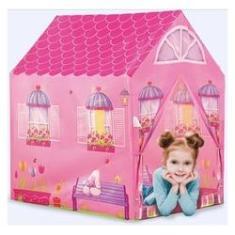 Imagem de Casinha Barraca Rosa Infantil Tenda Toca Leitura Dm Toys Dmt5652