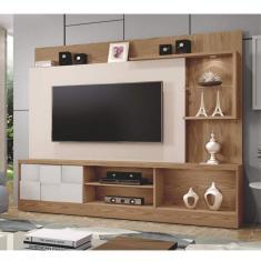 Imagem de Estante Home Para Tv Até 65 Polegadas 1 Porta Dinamarca Plus Mavaular Damasco Soft/Off White