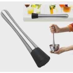 Imagem de Socador Inox 20,5 Cm Caipirinha Drinks Bartender Profissional