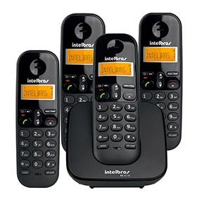 bde066341 Telefone sem Fio Intelbras TS 3110 com 3 Ramais