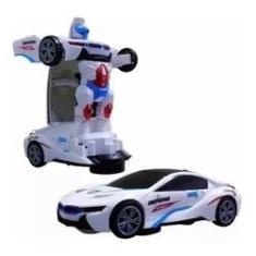 Imagem de Carro 3d Vira Robo Emite Som E Luz Transformes Carrinho Bmw