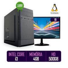 Imagem de Computador PC CPU Completo Intel Core i3 4Gb 500Gb Monitor 19 LED HDMI BestPC