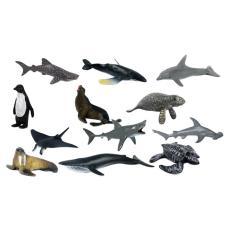 Imagem de 12 Peças Realista Vida Marinha Modelo Animal Estatueta Crianças Brinquedos Educativos
