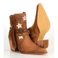 Imagem de Bota Country Texana Cano Curto Feminina em Couro Capelli