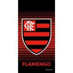 Imagem de Toalha de Praia Buettner Veludo Estampado Brasão Flamengo