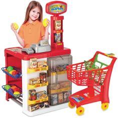Imagem de Super Market com Carrinho - 8039 - Magic Toys